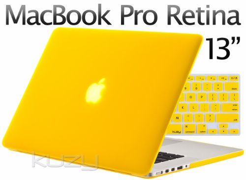 $$  Kuzy - 2in1 Retina 13-Inch Rubberized Hard Case and Keyboard Cover for Apple MacBook Pro 13.3