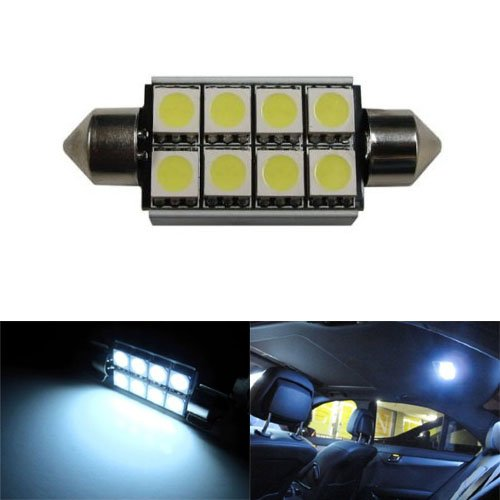 Ijdmtoy 8-Smd Error Free 6411 578 Led Bulb For Car Interior Dome Light Or Trunk Area Light, Xenon White