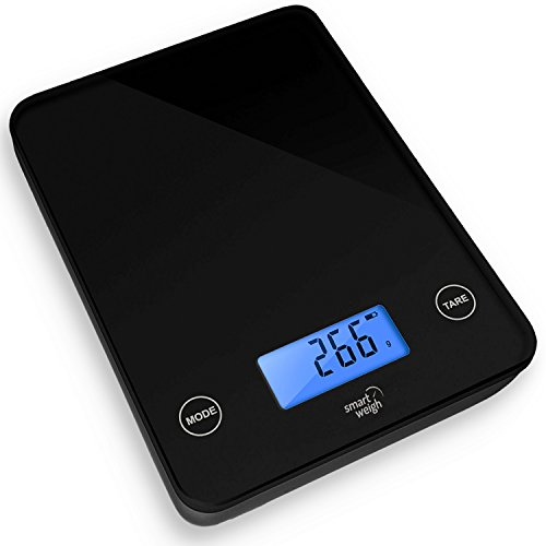 Smart weigh digital glass top kitchen and food scale for Best smart kitchen scale