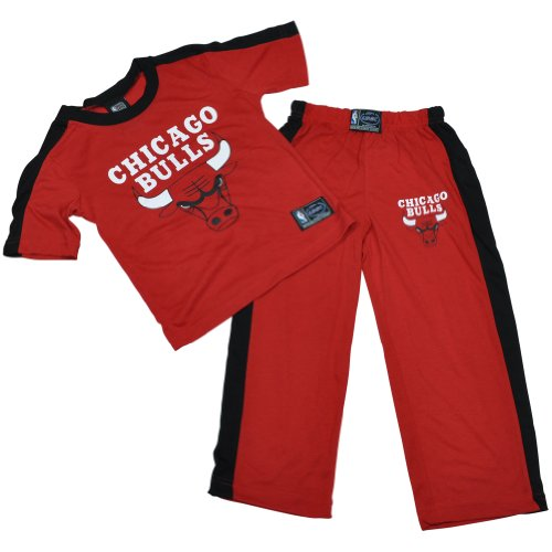 NBA Unk Chicago Bulls Derrick Rose Sleep Wear Pajamas Set Youth Kids Medium 8/10 at Amazon.com