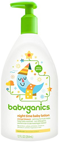 BabyGanics Smooth Moves Night Time Baby Lotion - Natural Orange Blossom-12oz - 1