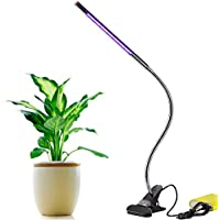 Aokey 5W Adjustable 3 Level Dimmable Clip Plant Lamp with 360 Flexible Goose-Neck