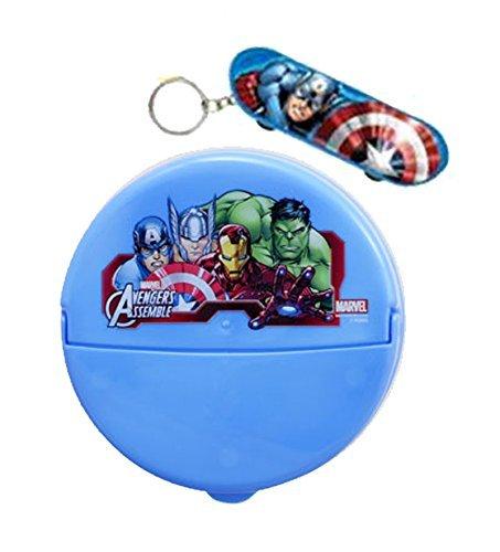 marvel-avengers-assemble-super-hero-snack-container-with-flip-top-lid-plus-bonus-avengers-skateboard