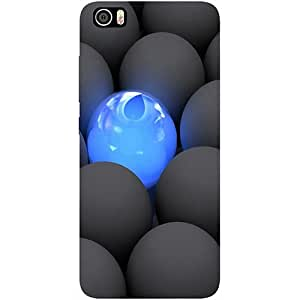 Casotec Balls Dark Neon Sight Surface Design 3D Printed Hard Back Case Cover with Metal Ring Kickstand for Xiaomi Mi 5