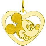 Gold Plated Sterling Silver Mickey Mouse Heart Disney Charm