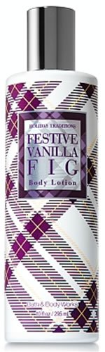 Bath & Body Works Holiday Traditions Festive Vanilla Fig Body Lotion 10 fl oz (295 ml)