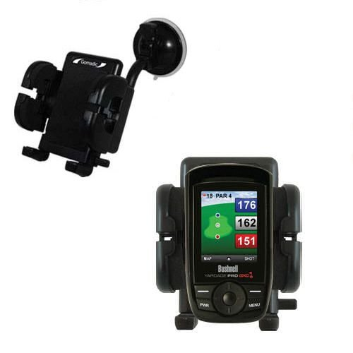Bushnell Yardage Pro Xgc Xg Compatible Windshield Mount For The Car / Auto - Flexible Suction Cup Cradle Holder For The Vehicle