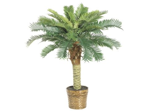 Pack of 4 Artificial Phoenix Palm Trees with Pots 3'