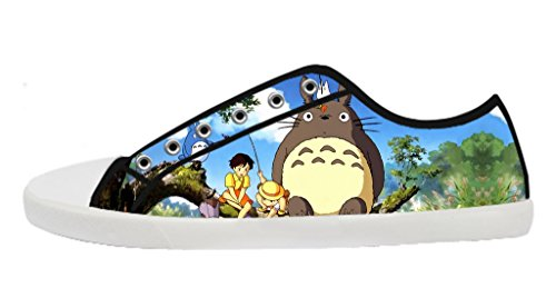 Custom Imported My Neighbor Totoro Canvas Shoes Women's Low-Top Lace-up Rubber Black Casual Sneakers-10M(US)