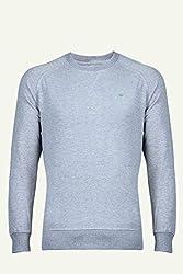 UV&W Full Sleeve Round Neck Mid Grey HTR Sweatshirt