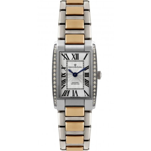 Dreyfuss and Co DLB00055-D-01 Ladies Silver And Rose Gold Tone Watch