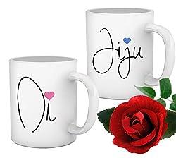 TIED RIBBONS Di and Jiju Set of 2 Mugs(350 ml)