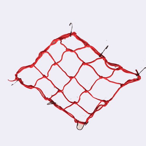 Tobey Motorbike Motorcycle Car Cargo 6 Hooks Hold Down Net Bungee 30Cm Four Colors Avlaible, Blue, Green, Red, Yellow (Red)