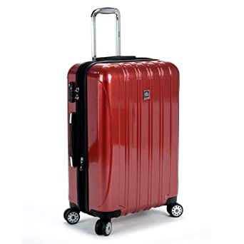 Delsey Helium Aero 25 Inch Expandable Spinner Trolley, Red, One Size