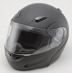 安全規格フリップアップフルフェイスヘルメット●672●マットブラックXLサイズ