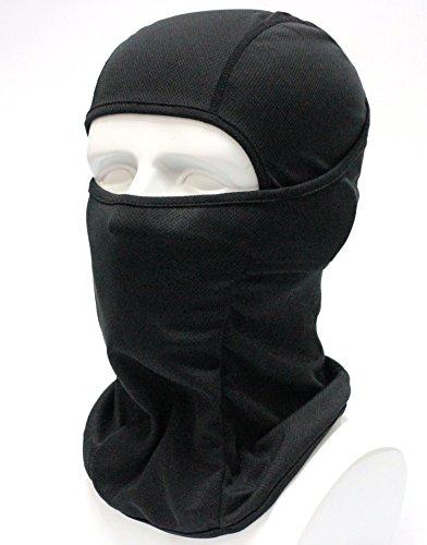 BXB Type 3Way タクティカル フェイスマスク ・アーミー バラクラバ ・SWAT 目だし帽 ミリタリー カモフラージュ ・ ネックウォーマー イヤーキャップ ・ 万能 ヘッドウェア ★ 通気性・保温性・速乾性 良好 ~サラっとした着け心地~  軍用・サバイバルゲーム・自転車・バイク・アウトドア (ブラック)