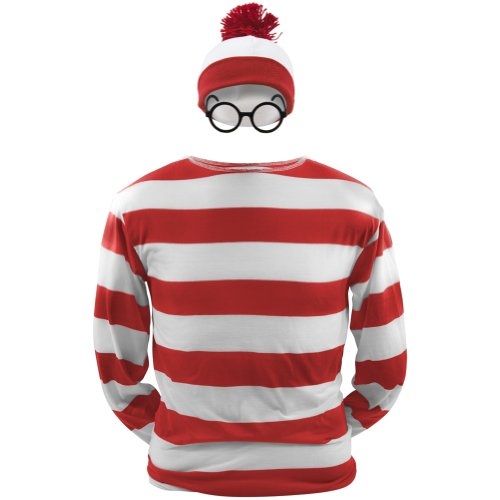 Where'S Waldo - Waldo Youth Costume Kit Youth Large Red front-1014844