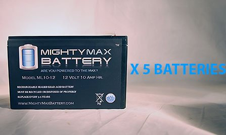 Ml10-12 - 12V 10Ah Schwinn S500 Fs, S-500 Fs Scooter Battery - 5 Pack