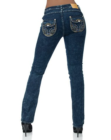 Apple Bottoms Boot Leg Jean Dark Blue 7/8