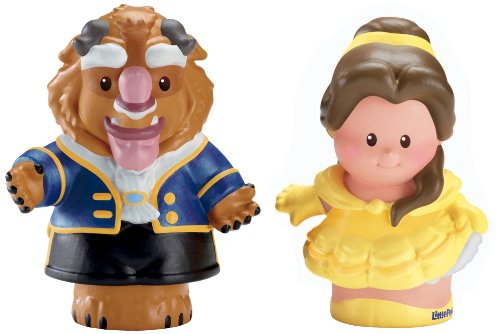 Fisher-Price Little People Disney Princess Belle and Beast Figures (Beauty And The Beast Fisher Price compare prices)