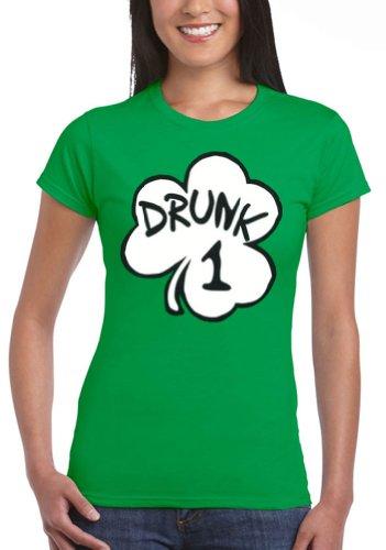 junior drunk 1 irish green costume funny tshirt tee