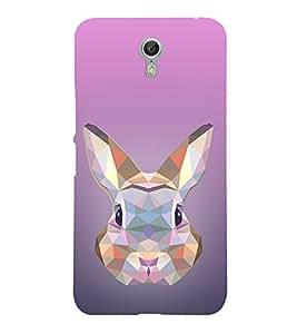 Rabbit 3D View 3D Hard Polycarbonate Designer Back Case Cover for Lenovo Zuk Z2 Pro