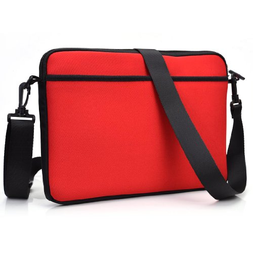 Solid Color - Travel Tablet Crossbody Bag Fits Asus Eee Pad (Tf600T-B1-Gr) front-73360