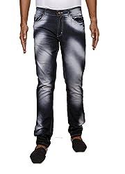 John Wills Men's Slim Fit Jeans (MCR1009--38, Black, 38)