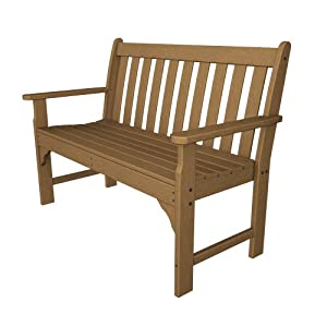 Recycled Plastic Vineyard 48″ Bench by Polywood Frame Color: Teak