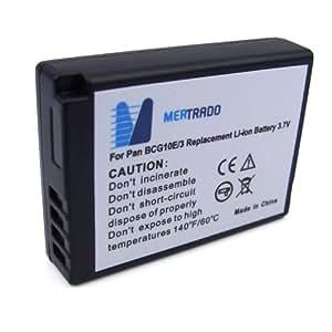 Mertrado DMW-BCG10E Akku (800mAh, 3,7 V) für Panasonic Lumix DMC-3D1/TZ6/ZS1/TZ7/ZS3/TZ8/TZ10/TZ18/TZ22/TZ25/TZ31/ZX1/ZR1/ZX3