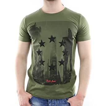 AT129194-KH - T-shirt manches courtes - Sixth June - AT129194 - Col rond - Unisexe - Fashion - Kaki - Vert, S