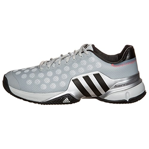 Adidas Barricade 2015 Clay Mens Tennis Shoes Solid Gray / Gray / Bright Red