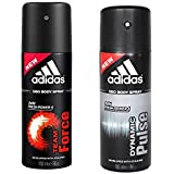 Adidas Team Force, Dynamic Pulse Deo Combo Pack , (Pack Of 2)