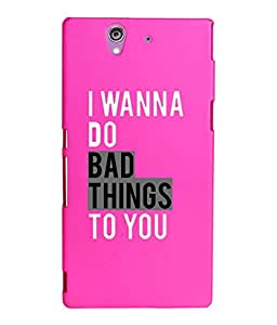 KolorEdge Printed Back Cover For Sony Xperia Z - Pink (2224-Ke15112XperiaZPink3D)