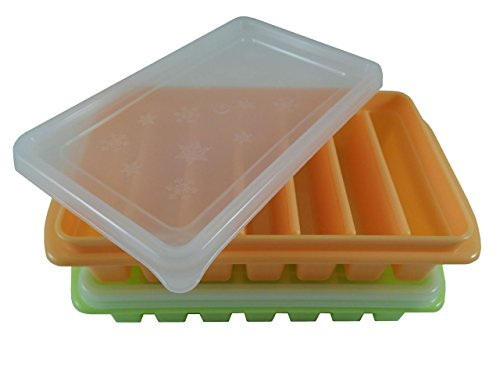 polar vortex 2 mini ice cube trays with lids home garden kitchen dining kitchen tools utensils. Black Bedroom Furniture Sets. Home Design Ideas