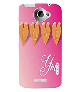 ColourCraft Love Quote Design Back Case Cover for HTC ONE X