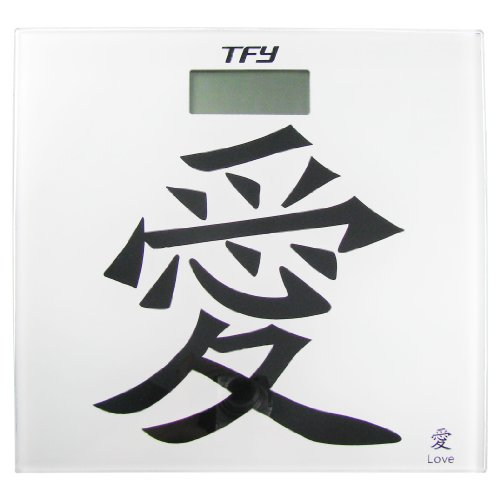 "Cheap TFY Limited Edition Glass Digital Bathroom Scale-Chinese Character ""Love"" (TGB-107-Love)"