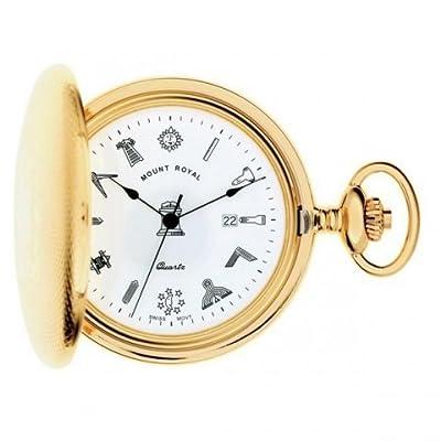 Mount Royal Pocket Watch G410PQ Gold Plated Masonic Full Hunter