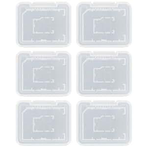Assecure Pro protection boîte de rangement housse de transport pour 6 sd sdhc mmc Micro sd mémoire carte - Effacer - Transparent
