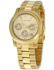 Michael Kors Watches Gold Chronograph Runway (Gold)