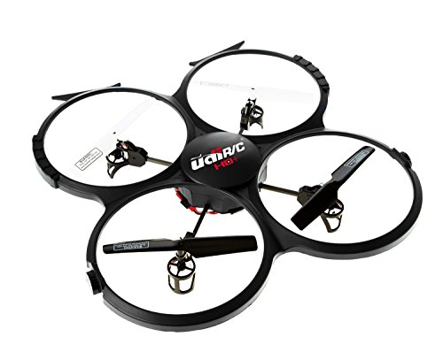 UDI-818A-HD-RC-Quadcopter-Drone-with-HD-Camera-Return-Home-Function-and-Headless-Mode-24GHz-4-CH-6-Axis-Gyro-RTF-Includes-BONUS-BATTERY-POWER-BANKQuadruples-Flying-Time