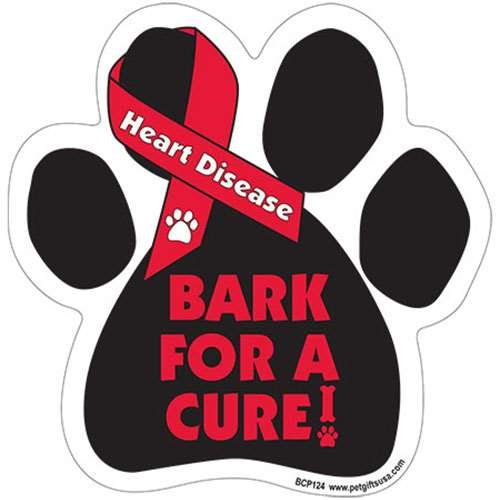 Bark For A Cure - HEART DISEASE Awareness - Durable Car Truck & Mailbox Magnet - 1