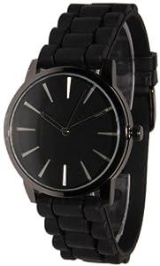 Geneva Black w/ Black Silicone Jelly Watch