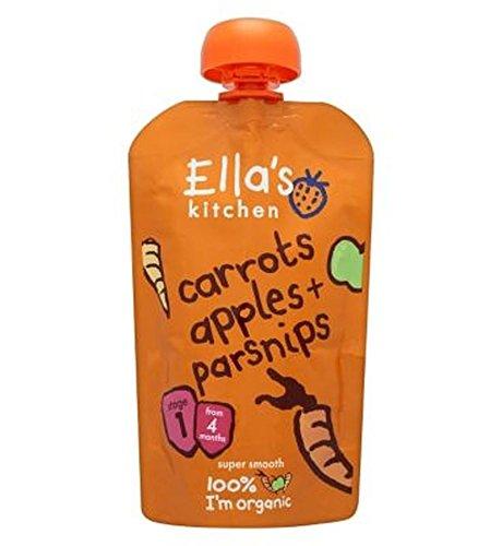 Cuisine Carottes, Pommes + Panais Ella Au Stade 1 À Partir De 4 Mois 120G - Lot De 2