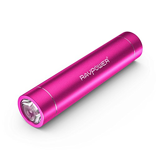 RAVPower 3200mAhモバイルバッテリー 小型・スティックタイプ LEDライト付き 5V/1A iPhone6plus/65S/ 5C/ 5/ 4S・iPad Air/mini・各種タブレット・Galaxy・Xperia・各社Androidスマホ/ウォークマン/Wi-Fiルータ等マルチデバイス対応 1年間の保証(ピンク)RP-PB08