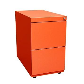 Bisley NWA73G7FF 71 cm Note Pedestal Desk Supporting 2 Drawers - Mandarin