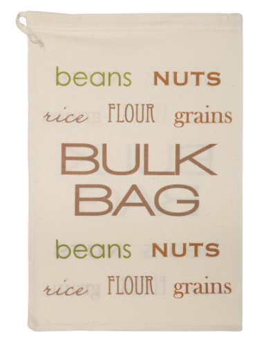 Bring It Recycled Cotton Reusable Bulk Food and Produce Bag, Large (The Coffee Bean Company Tote compare prices)
