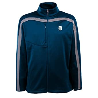 MLB Mens Detroit Tigers Viper Jacket by Antigua