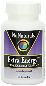 NuNaturals Extra Energy, The Quick Energy Formula, 60 Capsules (Pack of 2)