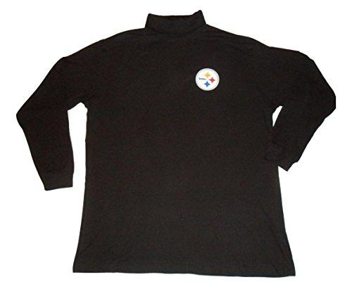 Steelers turtleneck pittsburgh steelers turtleneck for Big and tall mock turtleneck shirt